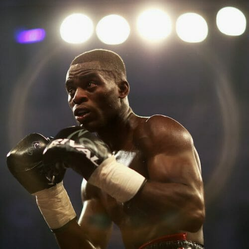 LONDON, ENGLAND - SEPTEMBER 01:  Joshua Buatsi during the JDNXTGEN Boxing Series at York Hall on September 1, 2017 in London, England.  (Photo by Naomi Baker/Getty Images)