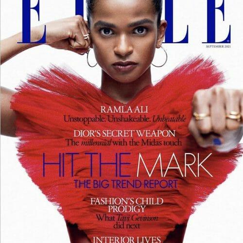 Ramla covers Elle magazine